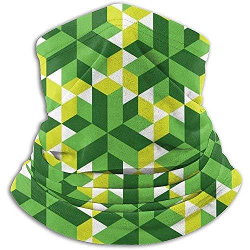 Linger In Green Flower Seamless Neck Gaiter Face Mask Bandana Seamless Headband Ski Riding Running