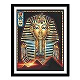Yunzezka Pintar por Numeros Adultos Faraón Egipcio Pintura De Bricolaje sobre Lienzo con Pinceles Y Pinturas(Sin Marco) 40x50cm