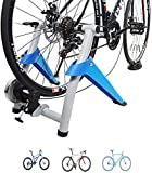 GHDE& Bike Trainer Stand, Indoor Turbo Bicycle Exercise Trainer W Quiet Real Road Feel Flywheel, Supports Portable Stationary Cycling Stand