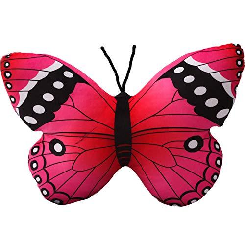 suxiaopei Cartoon Kissen Puppe Super Soft Net Red Doll Girl Niedliche kleine Mädchen Herz Dekoration Schmetterling Puppe Plüschtier Red Butterfly 42X30cm