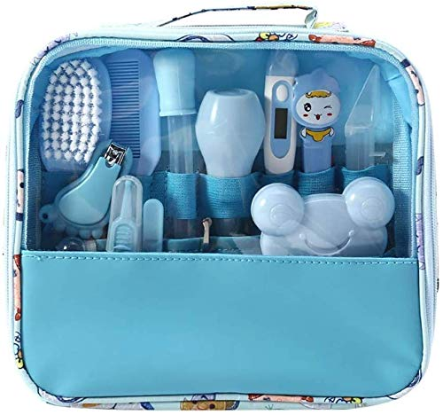 Suny Smilling Deluxe 14-Piece Baby Healthcare and Grooming Kit, Complete Nursery Care Kit - Pink