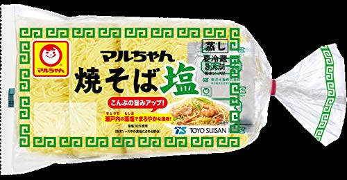 【要冷蔵】東洋水産 マルちゃん焼そば 塩 3人前 477g(めん150g×3)X6袋