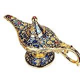 Aladdin Lamp Traditional Hollow Out Fairy Tale Magic Aladdin Wishing Genie Lamp Tea Pot Retro Home Decoration Accessories