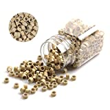Vcedas 1000PCS Silicone Micro Link Rings Beads for Hair Extensions Tool (Blonde)