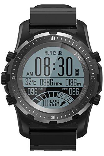 GPS Kompass Armbanduhr Outdoor Fitness Tracker Bluetooth Barometer Höhenmesser Herzfrequenz Smartwatch Fahrrad Modus Aktivitätstracker Anruf/SMS IOS Android