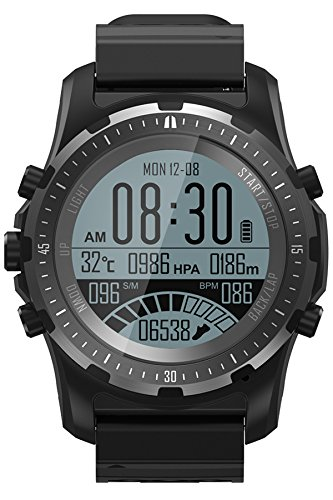 GPS Kompass Outdoor Armbanduhr Fitness Tracker Bluetooth Barometer Höhenmesser Herzfrequenz Smartwatch Fahrrad Modus Aktivitätstracker Anruf/SMS IOS Android