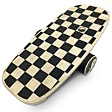 EasyGoProducts Perfect Balance Board - Wooden Trainer for Fitness, Surfing, Snowboarding,...
