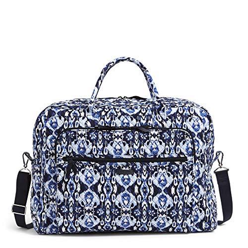 Vera Bradley Women's Signature Cotton Grand Weekender Travel Bag, Ikat Island, One Size