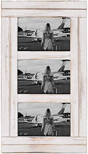 Amazon Brand - Umi Rustikale Bilderrahmen 15 x 10, 3 Bilder Collage Holz Fotorahmen für Wohndekor