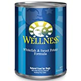 Wellness,Natural Wet Canned Dog Food, Whitefish & Sweet Potato, 12.5-Ounce Can (Pack Of 12)
