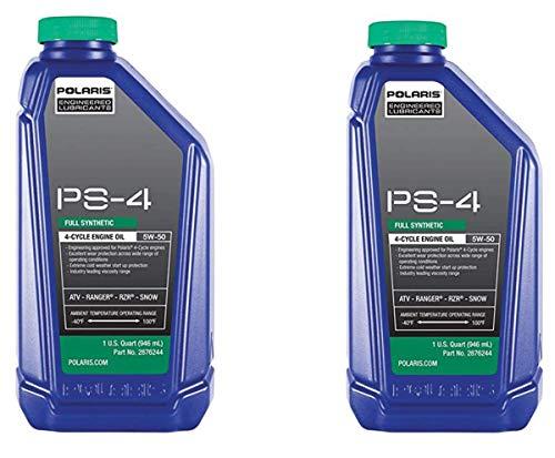 Polaris Factory OEM PS4 Synthetic Oil Sportsman ATV Ranger Razor RZR General 32oz Quart 2876244 2 Pack