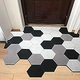 ZRZJBX Lavable para Atrapar Suciedad para Recibidor,Alfombra Lavable Exterior O Interior,Alfombra Exterior para Puerta Impermeable,Felpudo/Alfombra Entrada De Casa,Black1-90×120cm