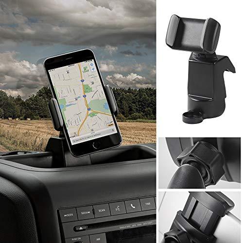 Jeep JK Wrangler Upper Dash Panel with holder for Large I Phone and I Phone Plus; Mini Pad; Cradle; Black Daystar KJ71057BK and KJ71047BK fits 2011 to 2017 2//4WD