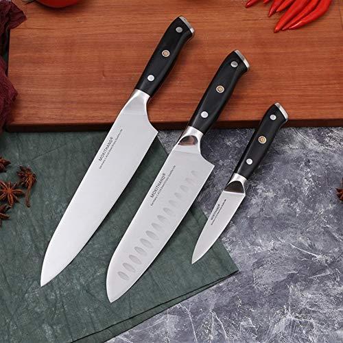 Cuchillo del cocinero Cuchillos de cocina de 8 pulgadas Chef juego de cuchillos de Alemania 1.4116 acero de alto carbono Santoku Pesca de Sharp cocinar Cuchillo hecho a mano (Color : 3pcs each set)