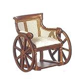Casa De Muñecas Muebles Miniatura Más Finos Silla Madera Nogal Victoriana
