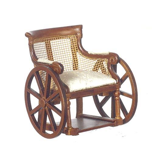 Aztec Imports Puppenhaus feinste Miniatur Möbel Viktorianisch Walnussholz Rollstuhl