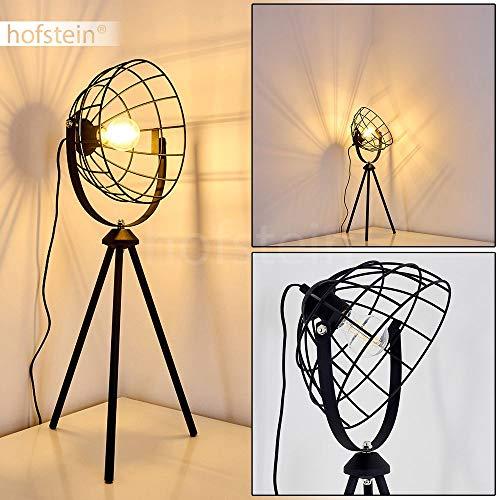 Tafellamp Flambeau metalen tafellamp in zwart 1 vlam 1 x E27 stopcontact max. 60 Watt lamp in retro/vintage uitvoering met lichteffect en aan/uit schakelaar op de kabel LED geschikt