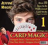 Jeffini's Card Trick kit - Magic Card Tricks for Adults, Kids & Teens, Includes Svengali Deck, Universal Deck, Stripper Deck, One-Way Deck, 4 Card Trick Books and Over 350 Card Tricks