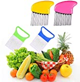 Crinkle Cut Knife set, 2 Fork Slicing Helper 2 Stainless Steel Crinkle Cutter, Fruit And Vegetable Wavy Chopper Knife, Safe Potato Cutter Onion Cutter French Fry Cutter,Kids Kitchen Tools
