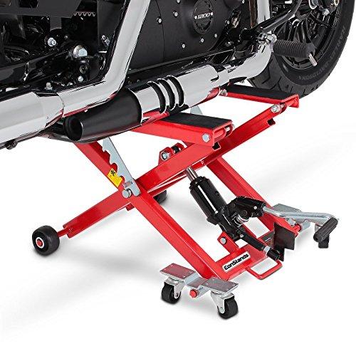 ConStands - Motorrad Hebebühne Hydraulisch XL 500kg Scherenheber Hydraulik-Lift Rot