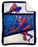 Marvel Spiderman City Swinger Sherpa Throw Blanket -...