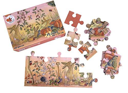 Egmont Toys 40-piece Floor Puzzle: Garden with Rabbits