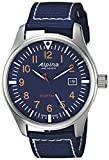 Alpina メンズ 'スマートタイマー' スイスクォーツ ステンレススチールとナイロン カジュアル腕時計 カラー:ブルー (モデル: AL-240N4S6)