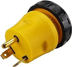 Generator Adapter RV 30Amp TT-30P to L5-30R 30Amp 3-Prong Locking Adapter,RV Adapters 30 Amp Male NEMA TT-30P to 30 Amp Twist Lock NEMA L5-30R