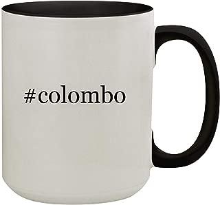 #colombo - 15oz Hashtag Colored Inner & Handle Ceramic Coffee Mug, Black
