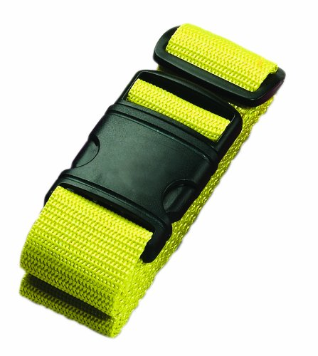 Lewis N. Clark Add a Bag Adjustable Tie Down Straps for Luggage Security, Neon Yellow