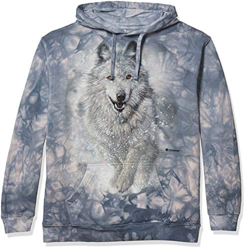 The Mountain Snow Plow Hsw Adult Hoodie, Blue, Large