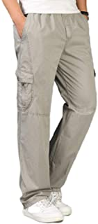 N/ A Men's Pants Elasticated Waist Quick Dry Lightweight Breathable Trousers Outdoor Hiking Pants with Pockets