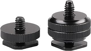 "Kaliou 1/4"" Single Dual Layer Tripod Mount Screw Flash Hot Shoe Mount Adapter For Camera Hotshoe Photo Studio Accessory (2..."