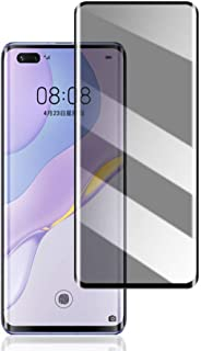 واقي شاشة خصوصية Huawei Nova 7 Pro 5G - Hangrun Smooth Touch Anti-Peeping 9h Hardness HD Tempered Glass Film for Huawei No...