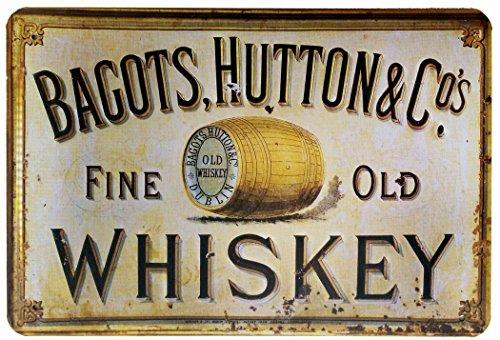 Bagots, Hutton fine Old whiskey retro vintage diseño de 20 x 30 cm Evolution donhütte-diseño retro decorativo para café