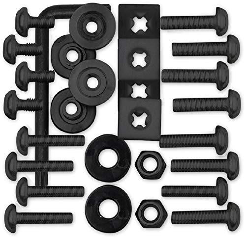 Cruiser Accessories 81550 License Plate Locking Fasteners, Ultimate Kit-Stainless Black Star Pin