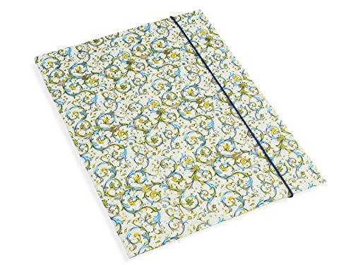 Gummi-Eckspanner aus leichtem Umkarton, Muster Florentiner Papier aus Italien, geeignet für DIN A4 Format, zum Sortieren von Unterlagen, schöne Zeichenmappe für Kinder