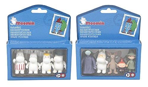 Set von 4 + 5 Nette (Moomin) Mumin Zeichentrick Action-Kunststoff-Figuren Spielzeug-Sammlung