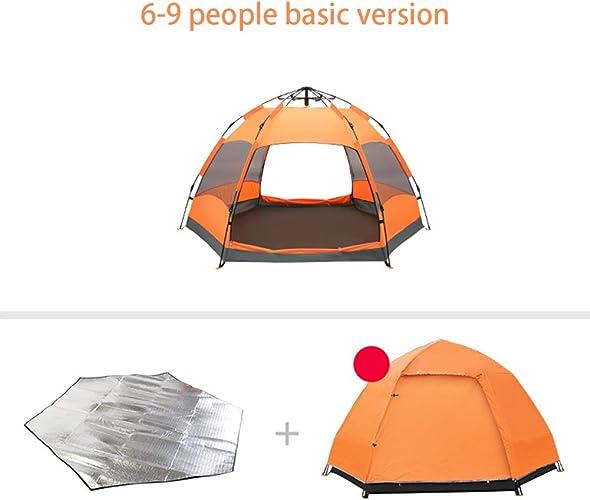 Pop Up Tente Instantanée, Tente de Plage Portable, Tente de Camping résistante à l'eau, abri extérieur + Prougeection Anti-humidité + Habillage Pluie (6-9 Personnes)