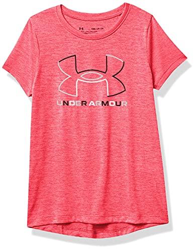 Under Armour Girls' Tech Big Logo Twist Short Sleeve T-Shirt , Gala (692)/Black , Youth Large