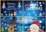 Wishstar Pegatinas Navidad Ventanas, Decoracion Navidad Escaparates, Adornos Navideños...