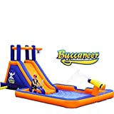 Blast Zone Buccaneer - Inflatable Water Park with Blower - Climbing Wall - Large Splash Area - Spray Canon - Set Up in Seconds