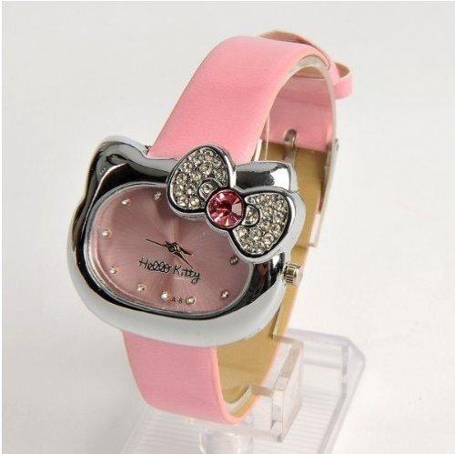 U-beauty Hello Kitty Girls Wristwatch Wrist Watch Pink