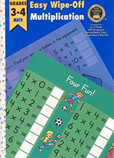 Easy Wipe-Off Multiplication: Grades 3-4 Math (Home Learning Tools)