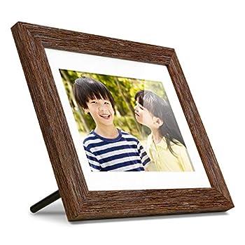 "Aluratek 8"" Distressed Wood Digital Photo Frame with Auto Slideshow 1024 x 768  ADPFD08F"