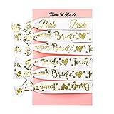 CAPRICIOUS 6Pcs Bracelet EVJF Accessoire 5 Bracelets de Team Bride + 1...