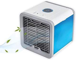 Mini Aire Acondicionado Portátil,Enfriador De Aire En Mesa, Humidificador, Ventilador USB, 3 Velocidades, 7 Luces for Hogar Y Oficina