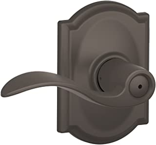 Schlage Accent Lever with Camelot Trim Bed and Bath Lock in Oil Rubbed Bronze - F40 ACC 613 CAM