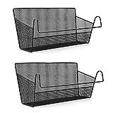 Sumnacon 2 cestas de almacenamiento para colgar en la mesita de noche, organizador de cama, organizador de escritorio para el hogar, oficina, escuela, dormitorio, litera