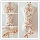 Parche de flores con apliques de encaje en 3D, ideal para manualidades decoradas...